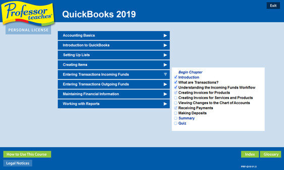 Скриншот из Professor Teaches QuickBooks 2019