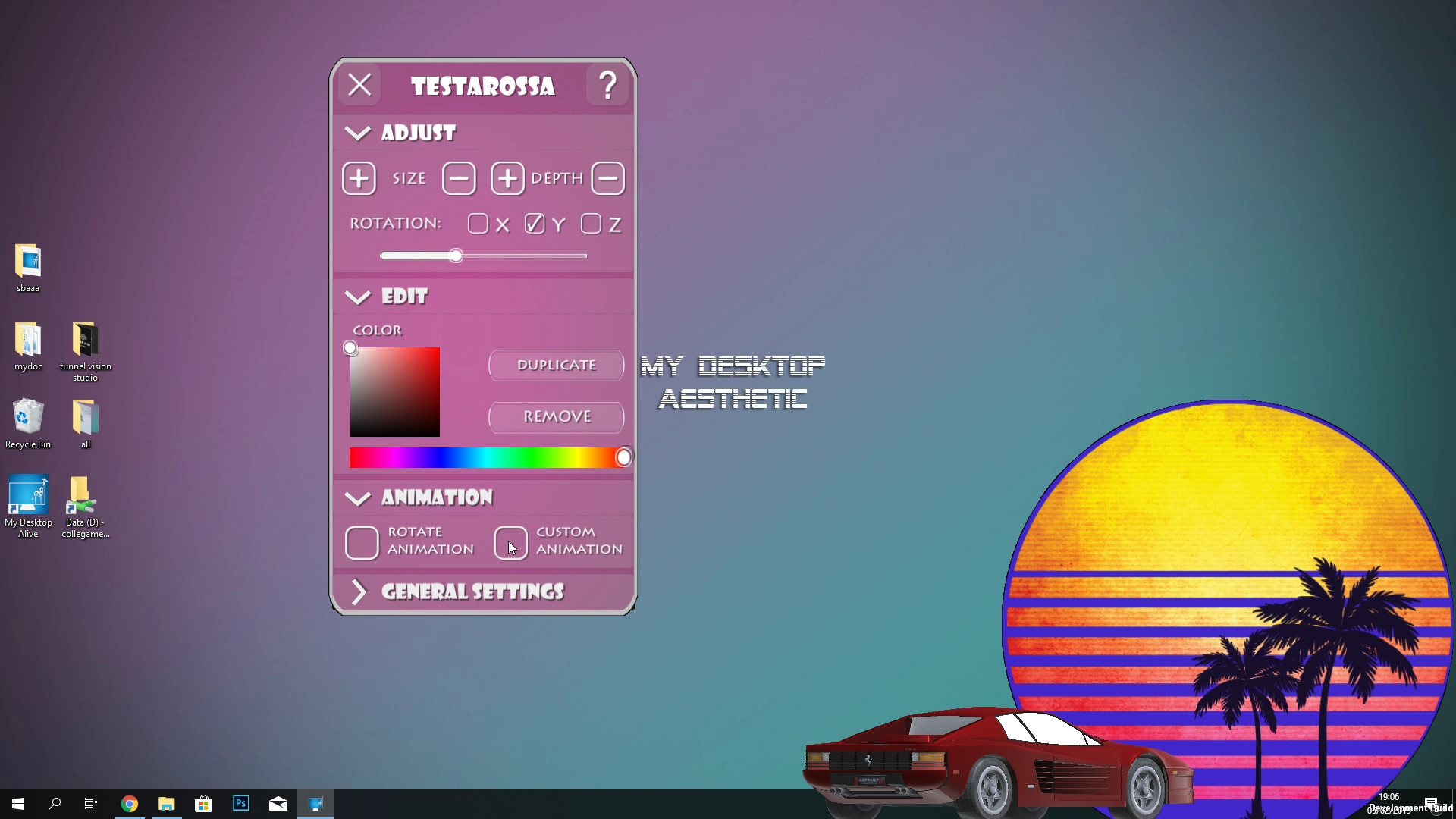 My Desktop Alive - Aesthetic
