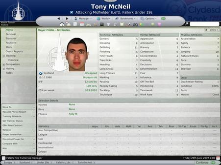 Скриншот из Worldwide Soccer Manager 2008