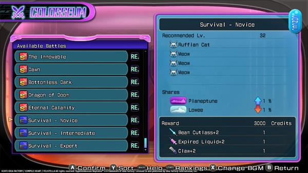 Hyperdimension Neptunia Re;Birth2 Survival Mode /  サバイバルモード / 生存模式 (DLC)