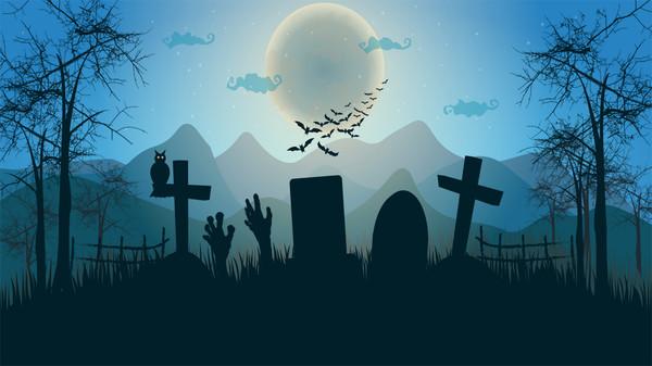 скриншот Quixzel Rush: Halloween Party Wall Paper Set 0