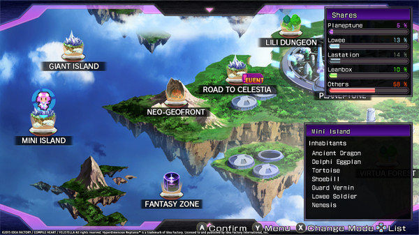 Hyperdimension Neptunia Re;Birth1 Mini Island / ミニミニアイランド / 迷你島 (DLC)