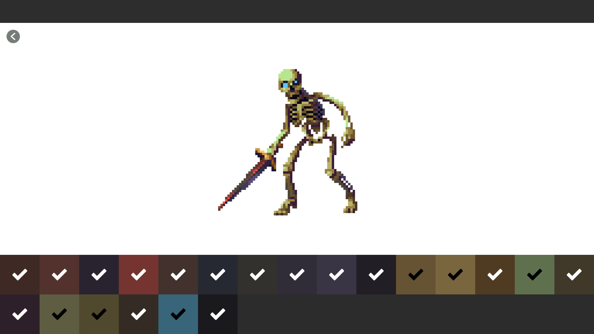 Pixel art monster color by number