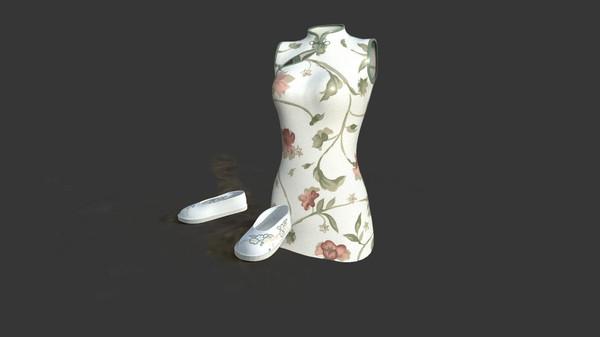 小花·绣花旗袍服饰包(附送29999灵币) (DLC)