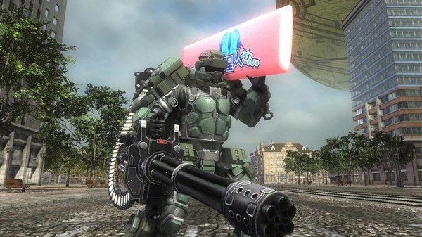 EARTH DEFENSE FORCE 5 - Fencer Weapon Happy Body Pillow (DLC)