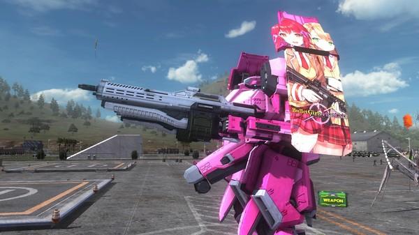 EARTH DEFENSE FORCE 5 - Air Raider Piloted Weapon Combat Frame Phantasia Shield Nyx (DLC)