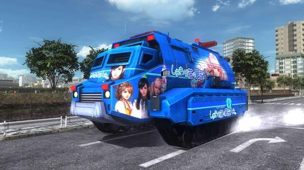 EARTH DEFENSE FORCE 5 - Air Raider Vehicle Caliban Armored Ambulance Joyful Marking (DLC)