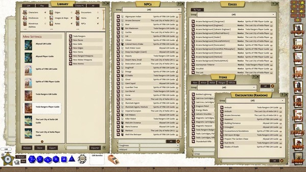 Fantasy Grounds - Savage Worlds Adventure Edition: MiniSettings (SWADE) (DLC)