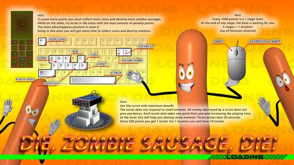 Die, zombie sausage, die!