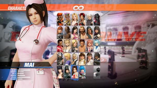 DOA6 Nurse Costume - Mai Shiranui (DLC)