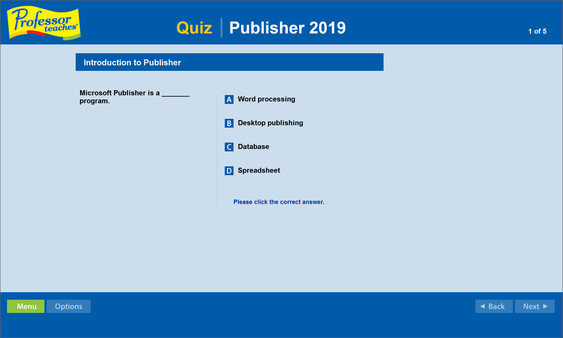 Professor Teaches Publisher 2019