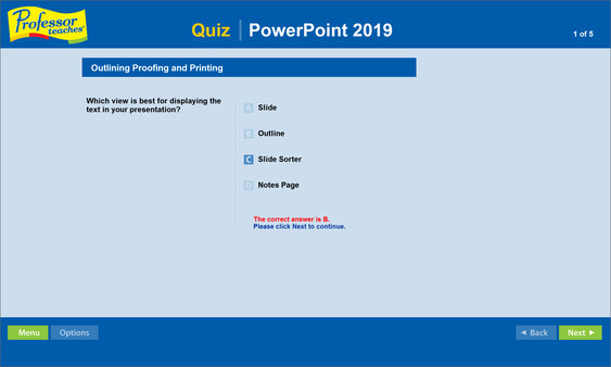 Professor Teaches PowerPoint 2019