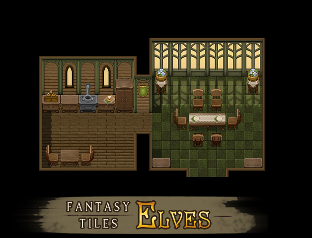 RPG Maker MV - Fantasy Tiles - Elves Steam Discovery