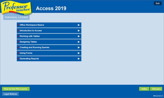 Professor Teaches Access 2019