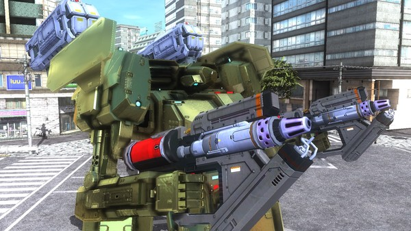 EARTH DEFENSE FORCE 5 - Air Raider Piloted Weapon Combat Frame Gold Nyx (DLC)