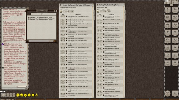 Fantasy Grounds - Meanders Map Pack: Fantasy City Nocturnal (Map Pack) (DLC)