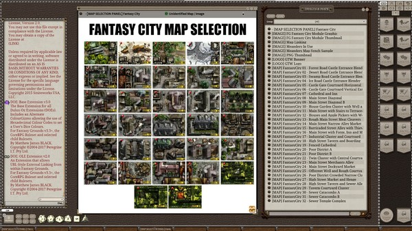 Fantasy Grounds - Meanders Map Pack: Fantasy City Spring Season (Map Pack) (DLC)