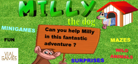 Milly the dog cover art
