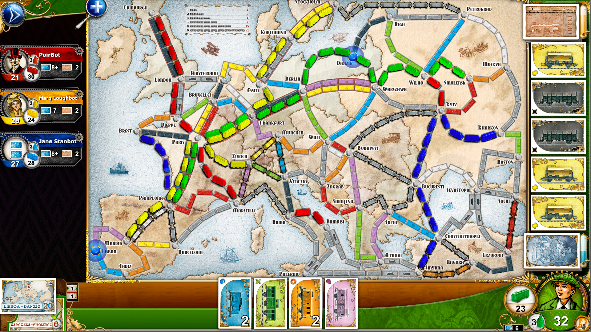 Ticket To Ride Europe On Steam