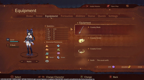 Super Neptunia RPG [Cosplay Series] Equipment Set (DLC)