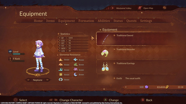 Super Neptunia RPG [Traditional Series] Equipment Set (DLC)