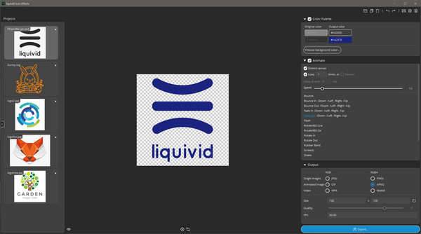 liquivid Icon Effects