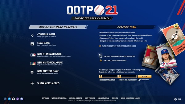 скриншот Out of the Park Baseball 21 0