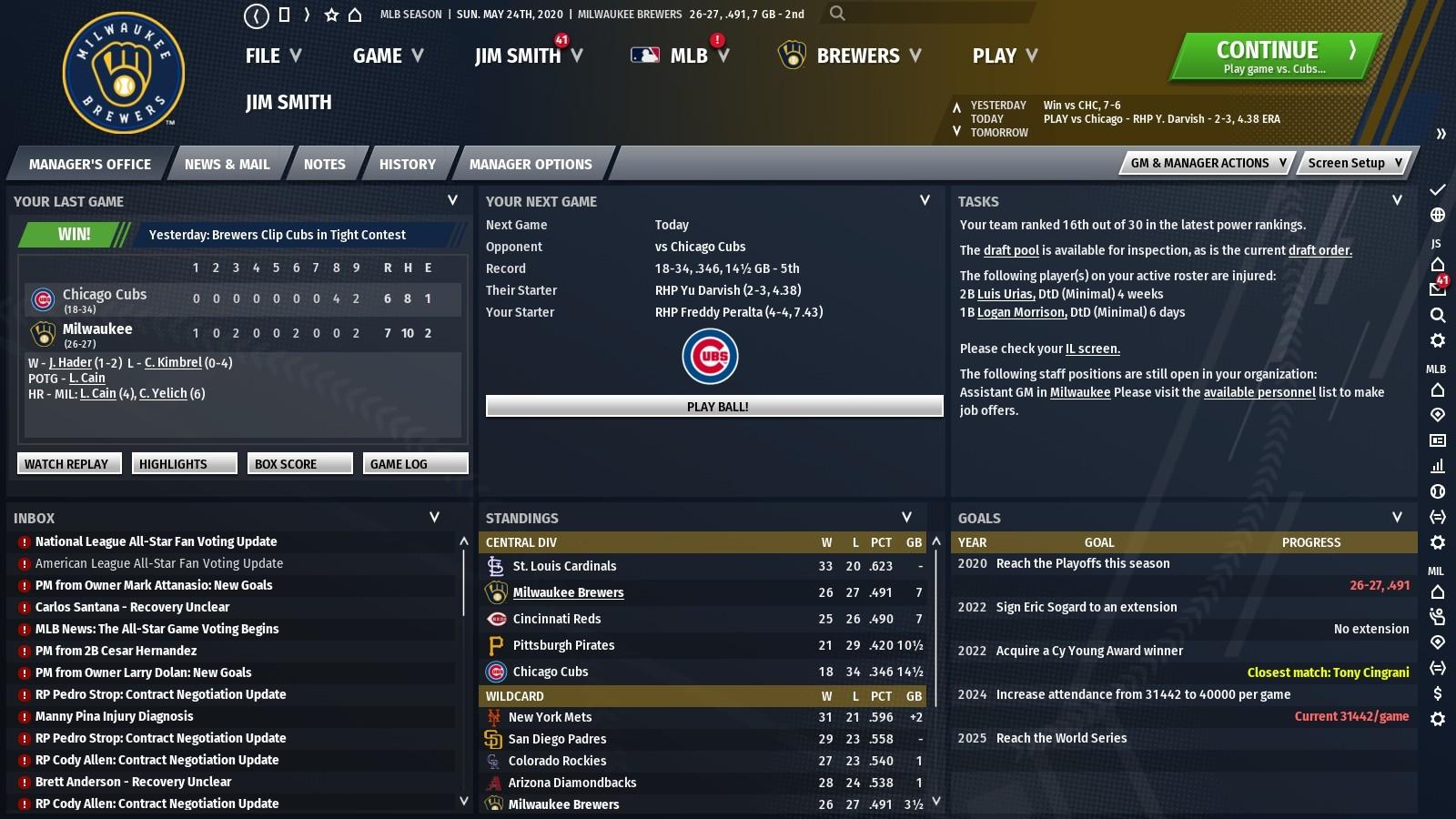 Out of the Park Baseball 21 Screenshot 2