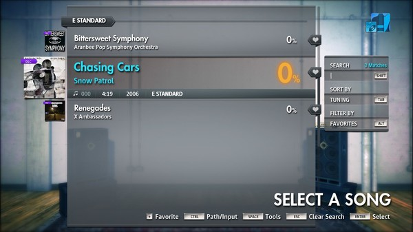 "Скриншот №3 к Rocksmith® 2014 Edition – Remastered – Snow Patrol - ""Chasing Cars"""