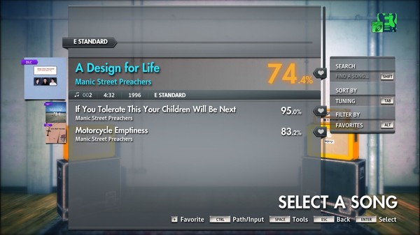 "Скриншот №1 к Rocksmith® 2014 Edition – Remastered – Manic Street Preachers - ""A Design for Life"""