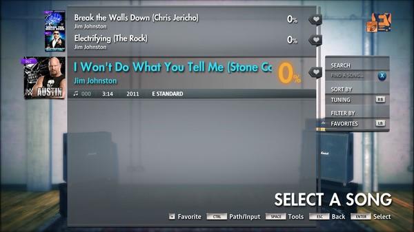 "Скриншот №4 к Rocksmith® 2014 Edition – Remastered – Jim Johnston - ""I Wont Do What You Tell Me Stone Cold Steve Austin"""