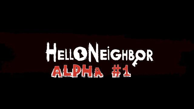 Hello Neighbor Alpha 1 logo