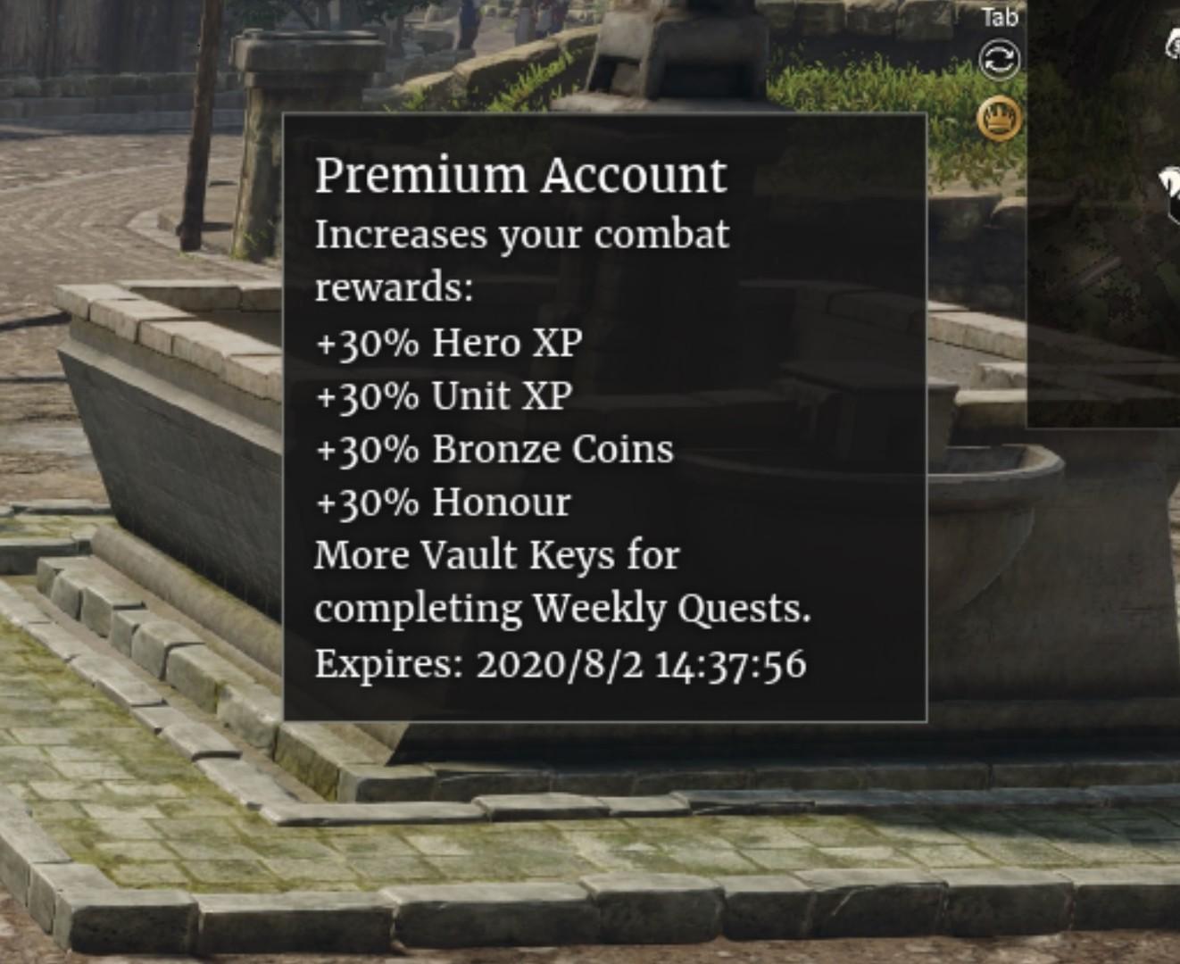 Conqueror's Blade - 1-day Premium Account Gift on Steam