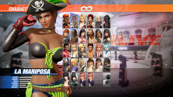 DOA6 Pirates of the 7 Seas Costume Vol.1 - La Mariposa (DLC)