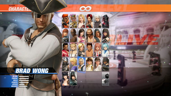 DOA6 Pirates of the 7 Seas Costume Vol.2 - Brad Wong (DLC)
