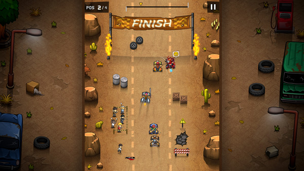 Rude Racers: 2D Combat Racing Screenshot