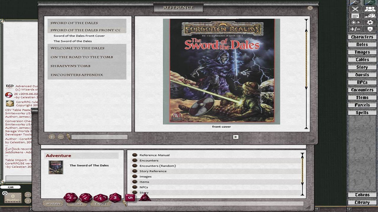 Fantasy Grounds - D&D Classics: The Sword of the Dales (2E)