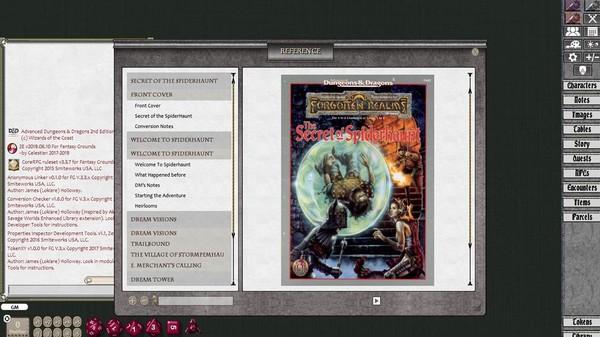 Fantasy Grounds - D&D Classics: The Secret of Spiderhaunt (2e) (DLC)