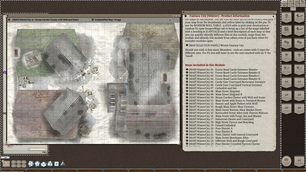 Fantasy Grounds - Meanders Map Pack: Fantasy City Winter (Map Pack) (DLC)