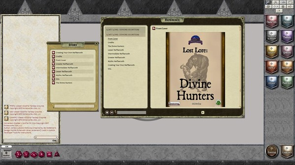 Fantasy Grounds - Lost Lore: Divine Hunters (PFRPG) (DLC)