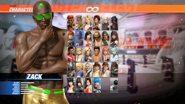 DOA6 Seaside Eden Costume - Zack (DLC)