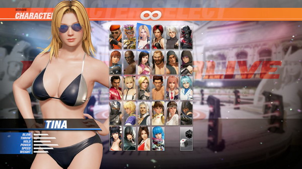 DOA6 Seaside Eden Costume - Tina (DLC)