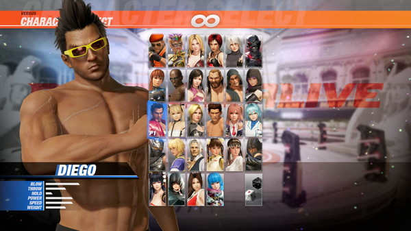 DOA6 Seaside Eden Costume - Diego (DLC)