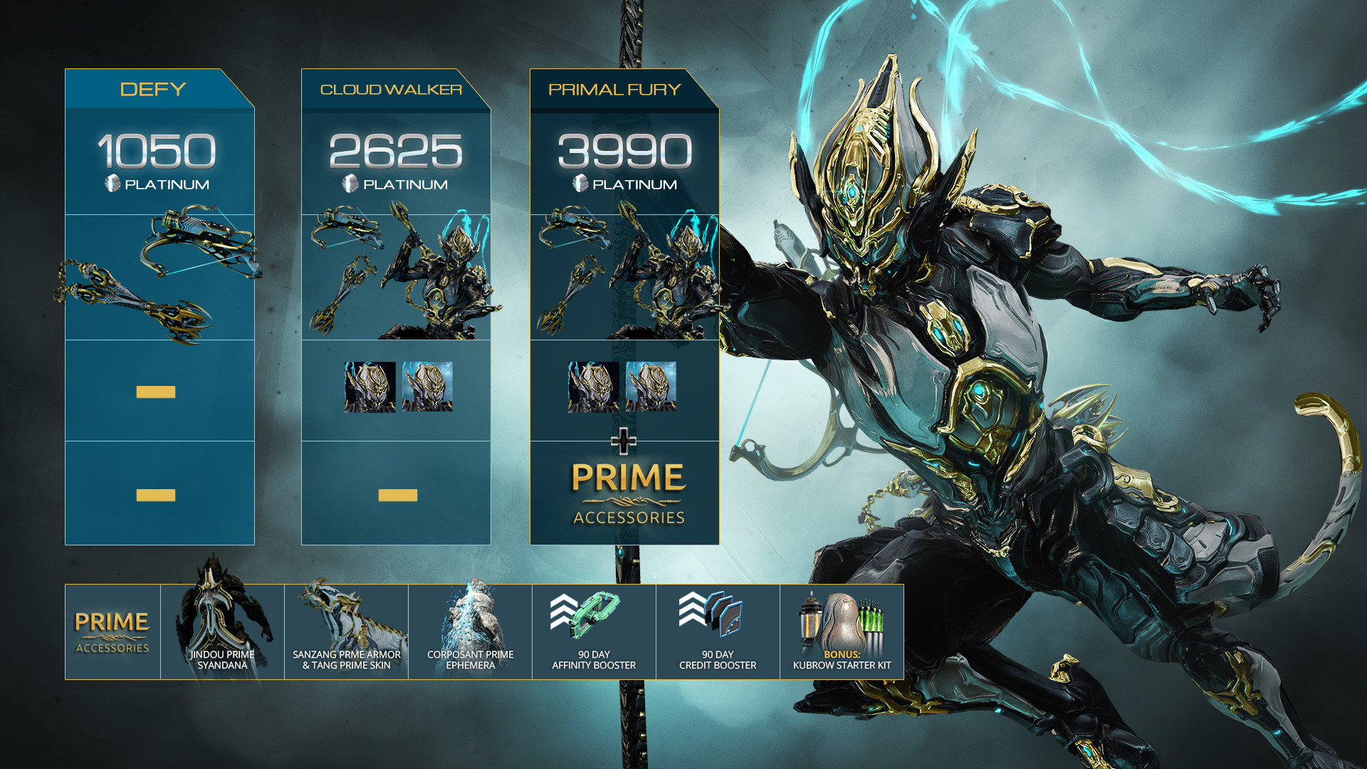 Warframe Wukong Prime Access: Defy Pack