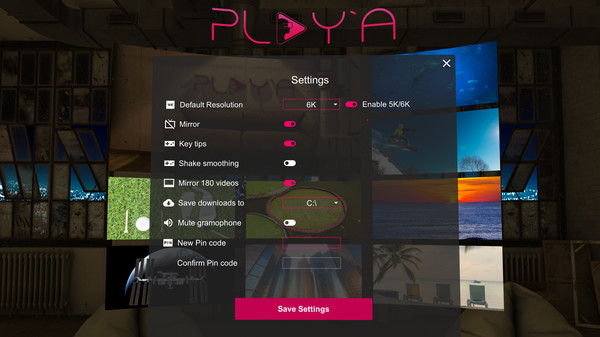 PLAY'A VR  Video Player