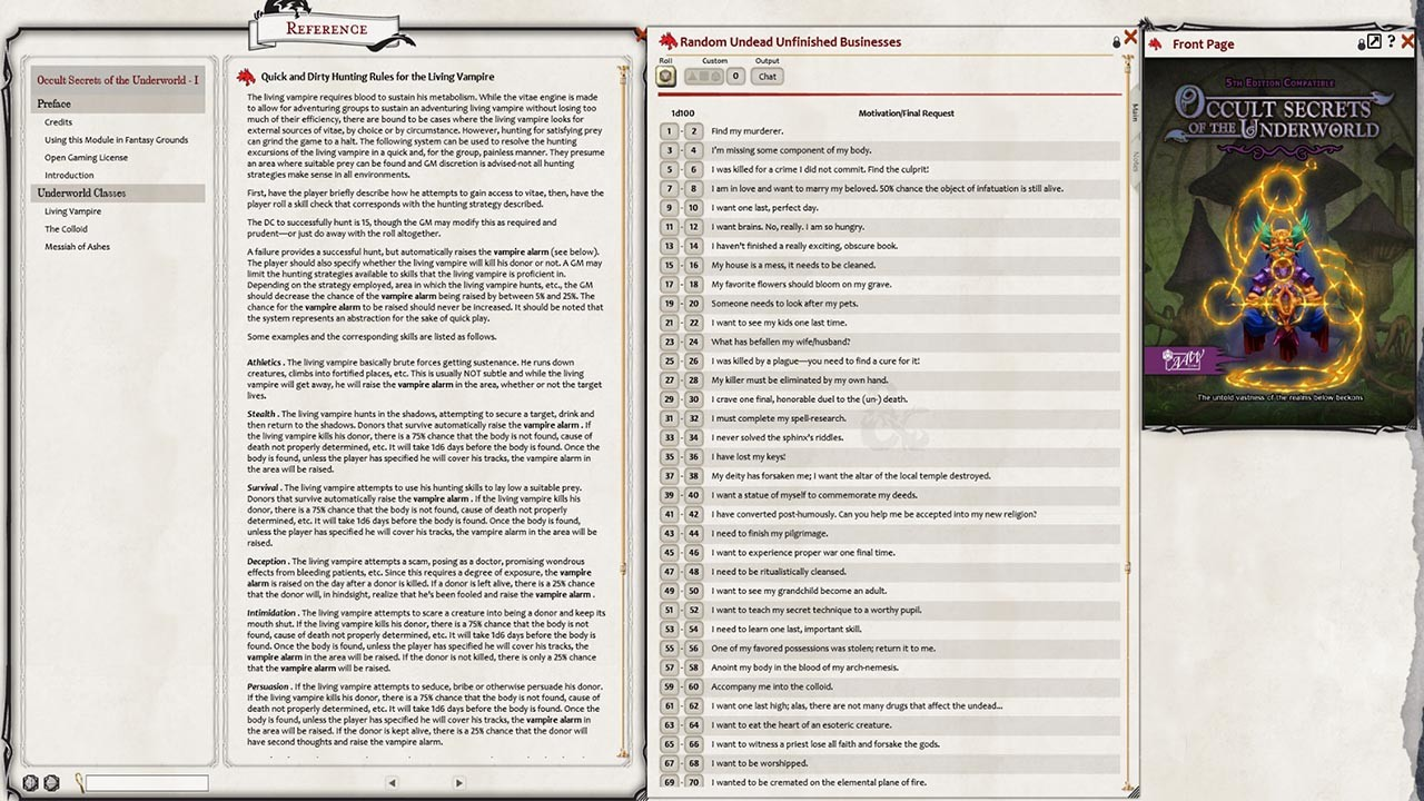 Fantasy Grounds - Occult Secrets of the Underworld (5E)