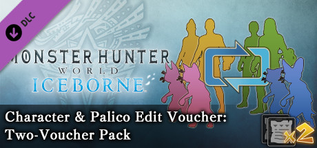 Monster Hunter: World - Character & Palico Edit Voucher: Two-Voucher Pack
