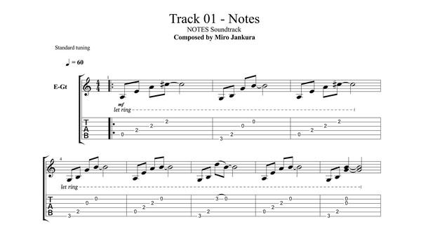 NOTES - Soundtrack + Music Sheets (DLC)