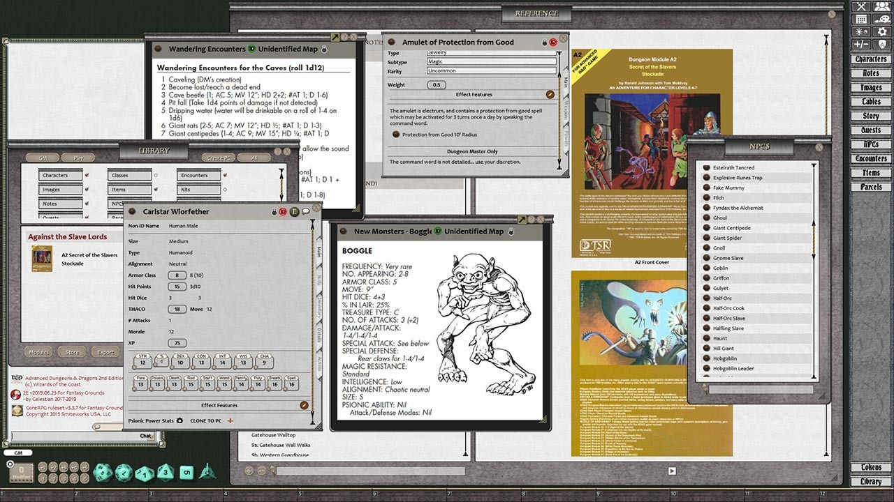 Fantasy Grounds - D&D Classics: A0-A4: Against the Slave Lords (1E)