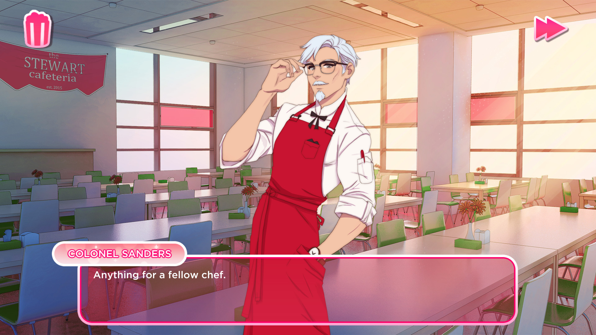 Colonel Sanders dating sim no really this exists